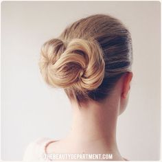 The Infinity Bun tutorial is up! Click the photo to get all the steps! (on fine blonde hair)
