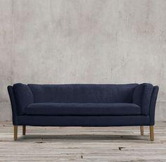 Sorensen Upholstered Sofa - navy velvet