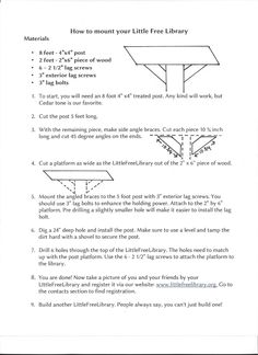 Image result for free little library woodworking plans