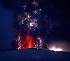 A dirty thunderstorm (also, Volcanic lightning) is a weather phenomenon that occurs when lightning is produced in a volcanic plume. Dirty thunderstorms have been reported in Chile above the Chaiten Volcano, above Alaska's Mount Augustine volcano, and Iceland's Eyjafjallajökull volcano
