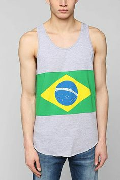 Brazil Flag Tank Top - Urban Outfitters