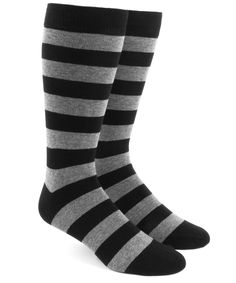 The Tie Bar Super Stripe Black Cotton Blend Dress Socks: Men's shoe size Machine washable Hand-sewn toe stitching We're TheTieBar, the trendy neckwear company endorsed by GQ Magazine. Black Suit Brown Shoes, Black Suits, Black And Grey, Gray, Dress Socks, Men's Socks, Striped Socks, Green Dress, Black Cotton