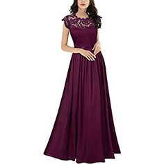 d735c8113 Miusol Women s Formal Floral Lace Sleeveless Evening Party Maxi Dress  (XX-Large