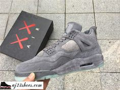 "11f7296f298e8b ATHENTIC KAWS X Air Jordan 4 ""Cool Grey"" from aj23shoes.com Kik"