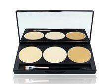 3 -Color Mini Concealer Palette  3 forskjellige farger concealer palett     Materiale : Kunststoff     Brukes til å maskere mørke ringer og andre små blemmer synlige på huden     Gjør huden din ser mer jevn farge     En flott makeup tilbehør for damer