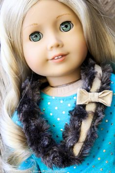 Sew a fun fur scarf for dolls.  There are a few fun details sewn right in.
