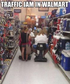 Looks like Wal Mart needs a fat people lane.