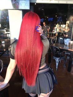 Top 23 Long Curly Hair Ideas of 2019 - Style My Hairs Long Thin Hair, Long Hair Wigs, Long Red Hair, Human Hair Lace Wigs, Brown Hair, Bright Red Hair, Red Hair Color, Curly Hair Styles, Natural Hair Styles