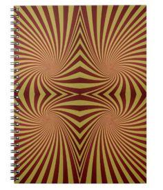 Yellow red spiral pattern spiral notebooks $14.35 *** Seamless yellow red spiral pattern design - notebook
