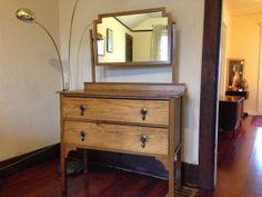 1900's Oak Dresser, $240.00 (Very cool geometric detail.)