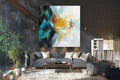 Large Modern Wall Art Painting,Large Abstract Painting on Canvas,texture art painting,canvas large,gallery wall art FY0040