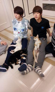 Haha they look funny. Kim Sung Kyu, Kim Sang, Infinite Members, Akdong Musician, Korean K Pop, Myungsoo, Woollim Entertainment, Kdrama Actors, Vixx
