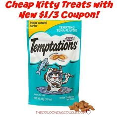 Your kitty will love you!! Get Temptations Kitty Treats for only $0.61/package with a $1.00/3 coupon! Stock up for your kitty!  Click the link below to get all of the details ► http://www.thecouponingcouple.com/kitty-treats-walmart-deal-temptations-for-0-56package/  #Coupons #Couponing #CouponCommunity  Visit us at http://www.thecouponingcouple.com for more great posts!