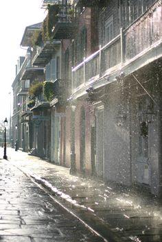 rain and wrought iron