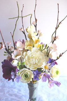 Hey, I found this really awesome Etsy listing at http://www.etsy.com/listing/94436140/clay-bridal-bouquet-wildflowers-bouquet