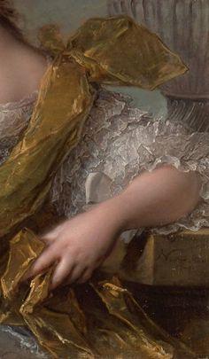 Portrait de Victoire de France (Détail) Jean-Marc Nattier 1748