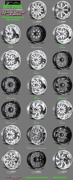 The new 2017 Fuel Off-Road Forged Wheels & Rims for Jeeps, Trucks & SUV's