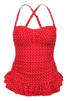 Torrid Plus Size Retro Chic By Torrid - Red White Hearts One-Piece Swimsuit ~Because child bearing has meant no bikinis ever again. Vestidos Pin Up, Cute Bathing Suits, Plus Size Swimsuits, Retro Chic, Retro Style, One Piece For Women, Glamour, Mode Vintage, Up Girl