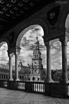Plaza de España in Seville - so dramatic it's been used as a location for many movies.