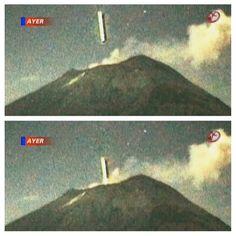 200 Meter Cigar UFO Enters Volcano Near Mexico City