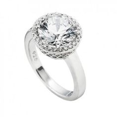 Picture of DIAMONFIRE Zirconia & Silver Cruise Cocktail Ring , 16