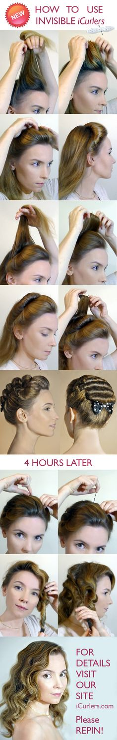 New invention your never heard of: Invisible hair rollers and how to use them. Please repin.