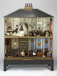 Mrs Neave's dolls' house, England, ca. 1840. This is a snapshot of an early Victorian interior. V