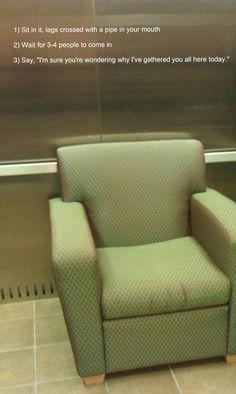 Genius elevator prank