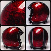 10 Custom Helmets from Chemical Candy Customs that I love, and you will too. Haven& heard of chemical candy? Custom Motorcycle Paint Jobs, Motorcycle Helmet Design, Custom Paint Jobs, Bobber Motorcycle, Motorcycles, Pinstriping, Chapeau Cowboy, Vintage Helmet, Custom Helmets