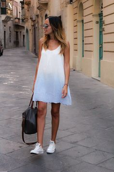 Jennyfer Ombre Dress, Converse Trainers