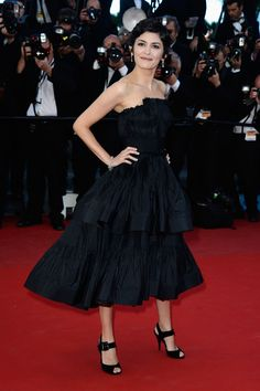Audrey Tautou wearing Lanvin at 2013 Cannes Film Festival