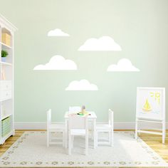 Clouds  Nursery and Kid's Room Wall Decals