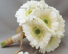 gerber daisy and wheat wedding flowers - Google Search