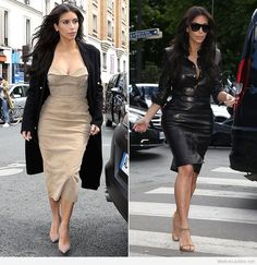 Two outfits Kim Kardashian prewedding