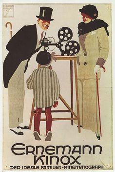 Ludwig Hohlwein Poster: Ernemann Kinox (Ideal Cine-Camera) 1972 Large Book Plate