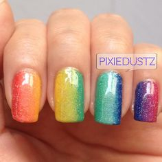 rainbow nail | top nail design rainbow ombre nails views 2213 by pixiedustz