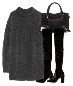 """Untitled #2939"" by theeuropeancloset on Polyvore featuring NLST, Balenciaga and River Island"