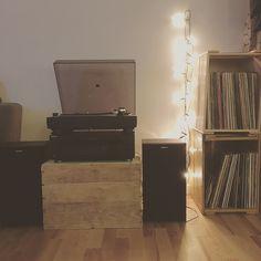 My new little vinyl area in my new apartment 💕 #lovemyvinyls