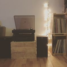 My new little vinyl area in my new apartment 💕 #lovemyvinyls