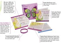 Experiencing a first period can be make easier for tween girls if they have some kind of an idea what to expect. Premade first period kits can make the transition to being woman easier for the girl. First Period Kits, Mighty Girl, Raising Girls, Raising Daughters, Birds And The Bees, Feminine Hygiene, Menstrual Cycle, Homemade Beauty Products, Book Recommendations