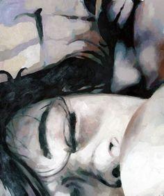 "Saatchi Online Artist: thomas saliot; Oil 2013 Painting ""the kiss"" I love Thomas Saliot."