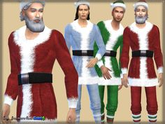 Set of clothes for Santa: dress and socks.  Dress is presented in 3 versions, socks - 4 types of staining. Merry Christmas!  Found in TSR Category 'Sims 4 Sets'