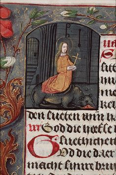 Saint Margaret and the dragon