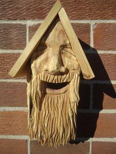 Hand carved birdhouse Wood birdhouse Cedar by OsborneArtwork