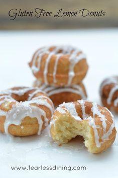 Gluten Free Lemon Donuts @FoodBlogs