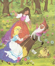'Snow White and Rose Red' by Gisela Gottschlich [Pestalozzi Verlag] by aMJel, via Flickr