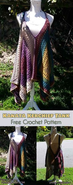 [Easy] Kanata Sleeveless Top - Free Crochet Pattern Kanata Kerchief Tank summer top