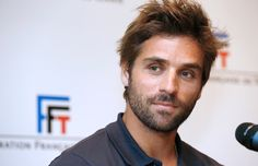 French tennis player Arnaud Clement..This retired tennis player is now Captain of the French Davis Cup team, but mostly just easy on the eyes.