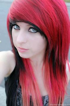 Red Emo Hairstyles | Clothes