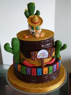 fiesta birthday cake fiesta birthday cake best themed cakes ideas on flower party desserts mexican fiesta birthday cake ideas Mexican Birthday Parties, Mexican Fiesta Party, Fiesta Theme Party, Taco Party, Mexican Pinata, Mexican Themed Cakes, Mexican Cakes, Mexico Party, Themed Birthday Cakes